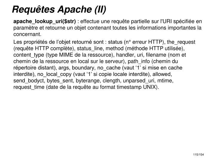 Requêtes Apache (II)