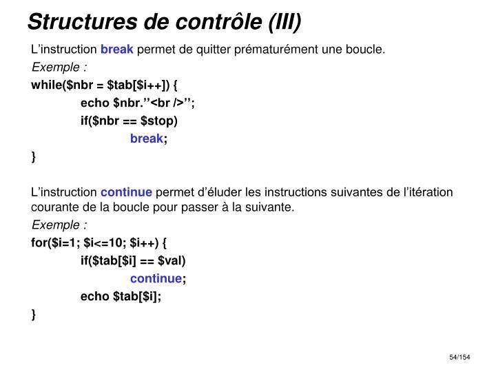 Structures de contrôle (III)