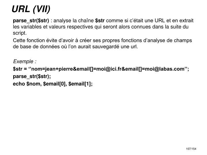 URL (VII)