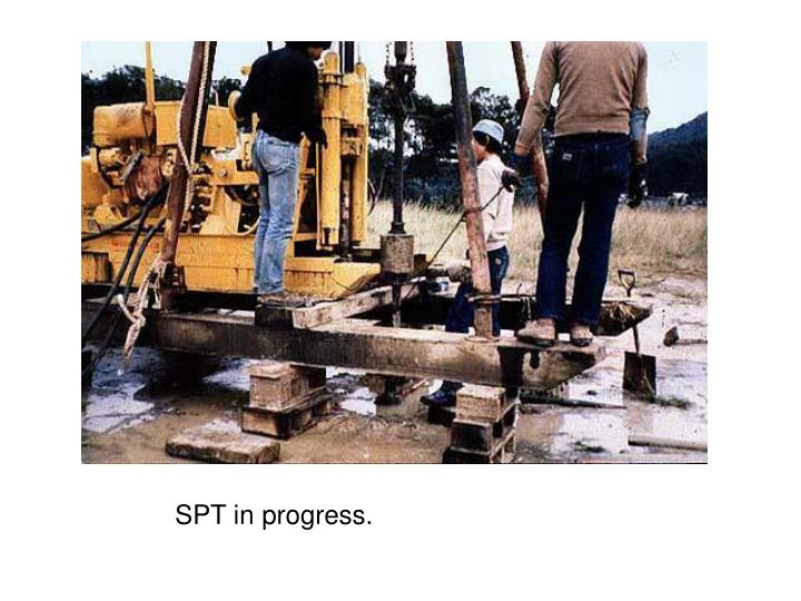 SPT in progress.