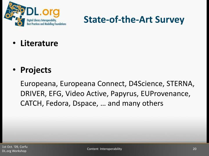 State-of-the-Art Survey