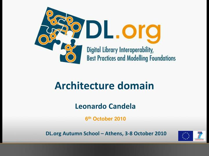 architecture domain n.
