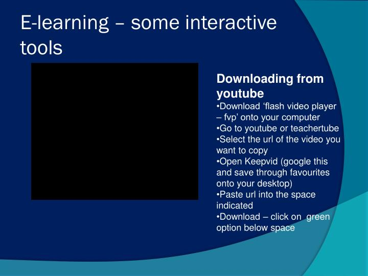 e learning some interactive tools n.