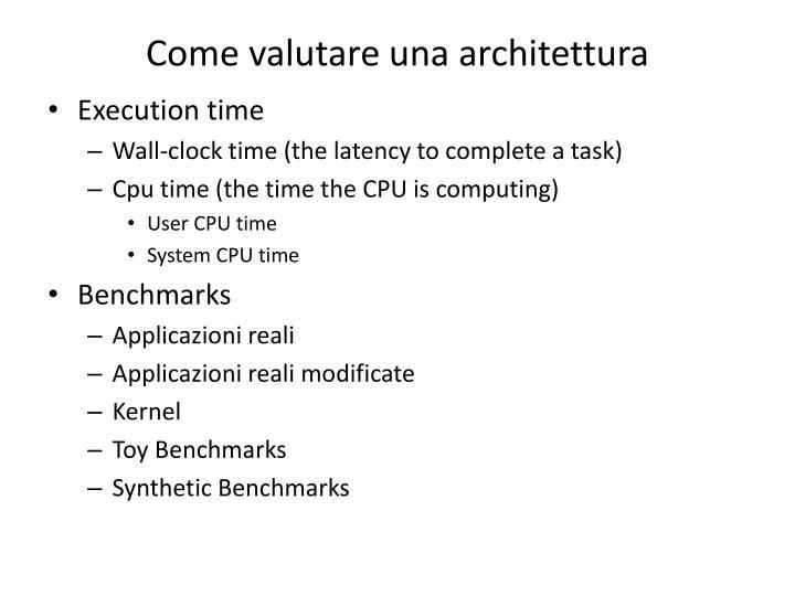 Come valutare una architettura