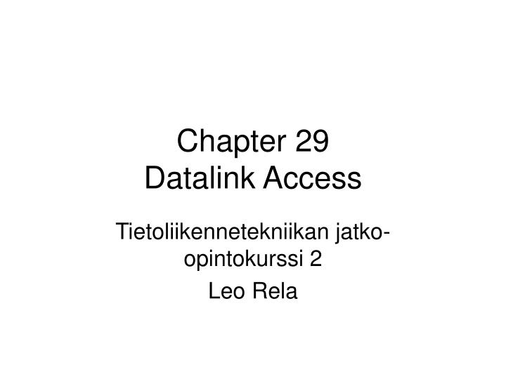 Chapter 29 datalink access