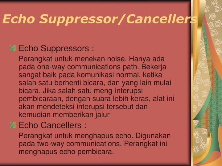 Echo Suppressor/Cancellers