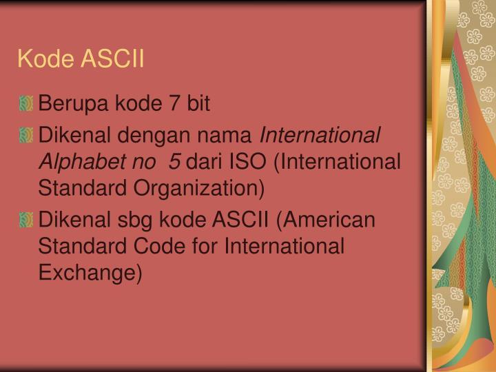 Kode ASCII