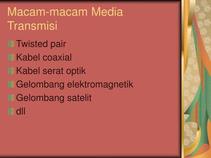 Macam-macam Media Transmisi