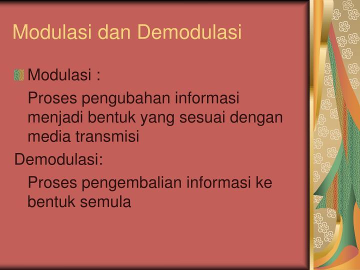 Modulasi dan Demodulasi