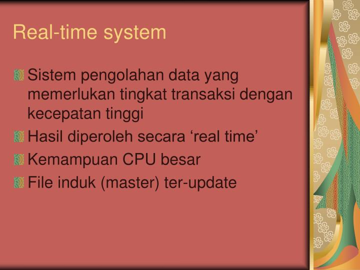 Real-time system
