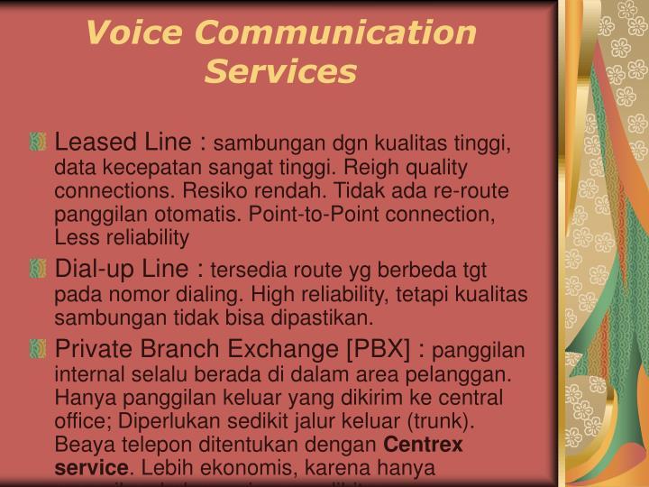 Voice Communication Services