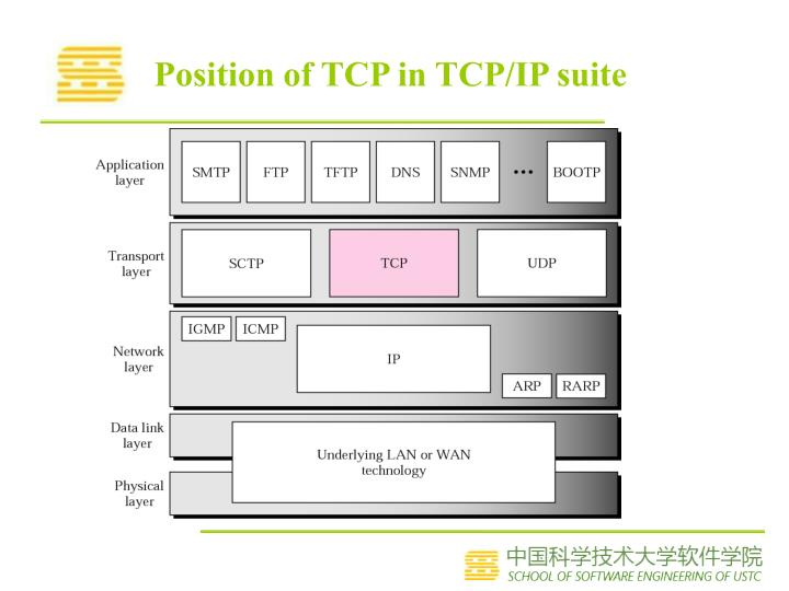 Position of tcp in tcp ip suite