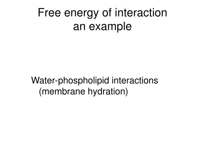 Free energy of interaction