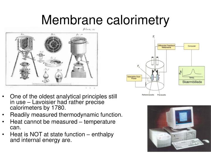 Membrane calorimetry