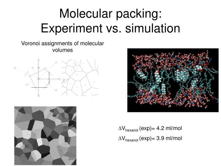 Molecular packing: