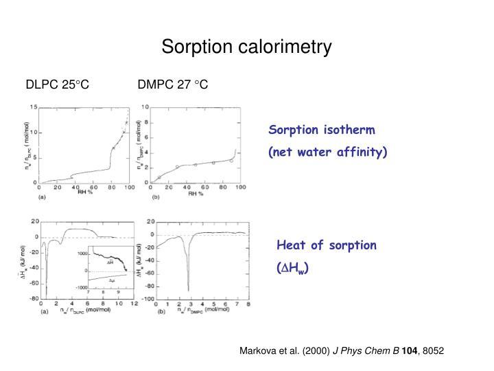 Sorption calorimetry