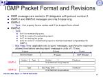 igmp packet format and revisions