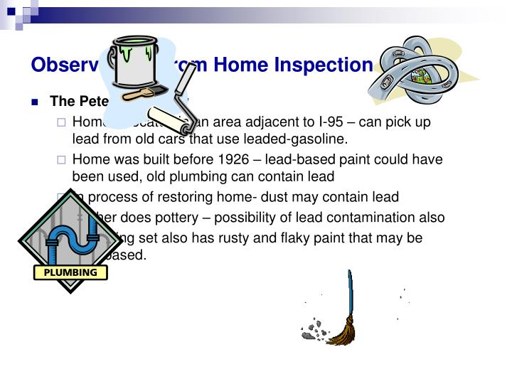 Observations from Home Inspection