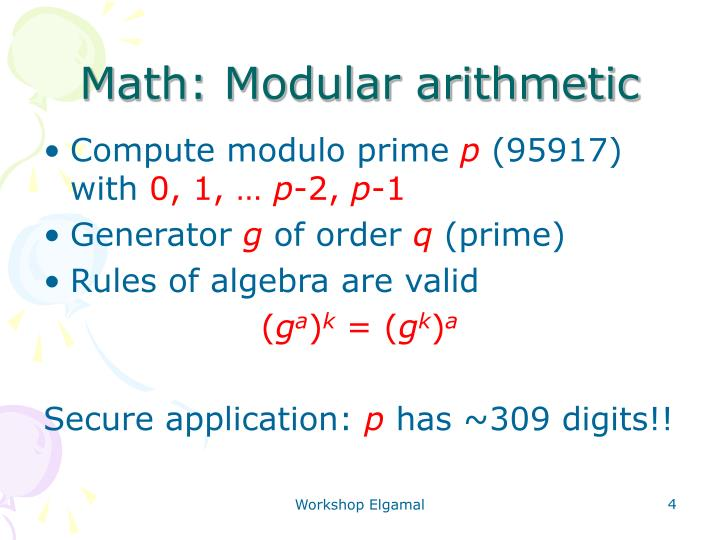 the main features of modular arithmetic and its importance Automatic generation of vectorized montgomery algorithm the main operation of modular arithmetic  this operation is an important step in the vec-.