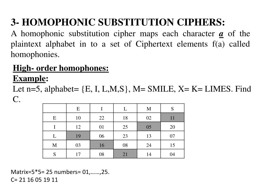 PPT - Lecture 2 Classical Cipher System SIMPLE SUBSTITUTION