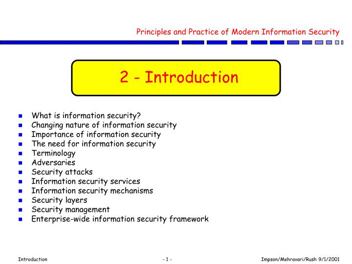 PPT - Principles and Practice of Modern Information Security