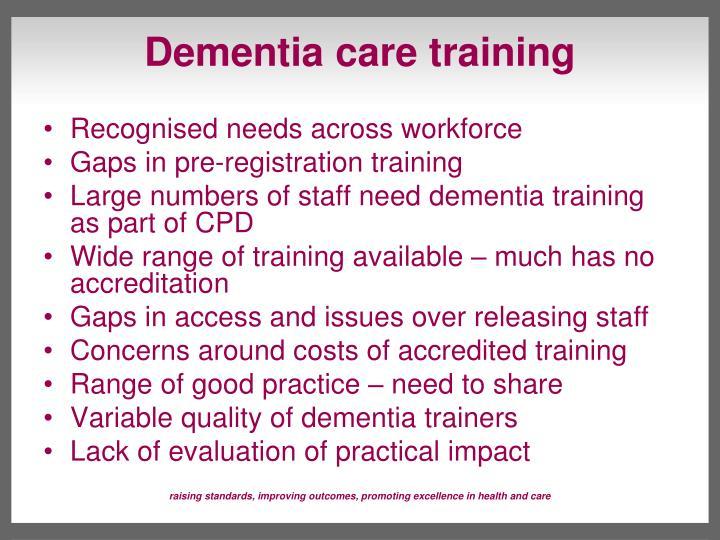 Dementia care training