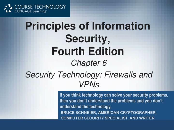 principles of information security fourth edition n.