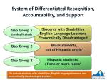 system of differentiated recognition accountability and support