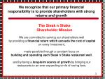 the steak n shake shareholder mission