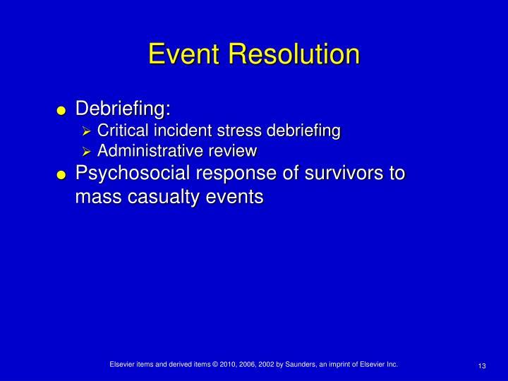 Event Resolution