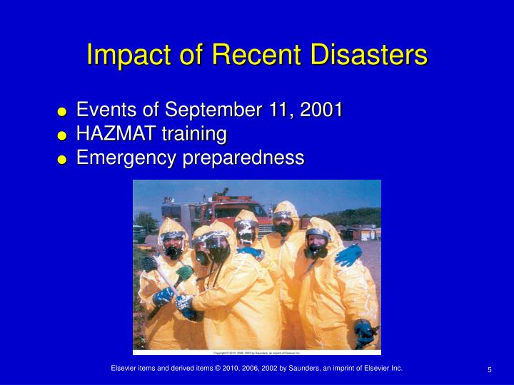 Impact of Recent Disasters