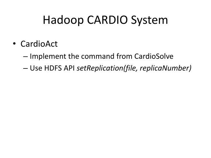 Hadoop CARDIO System