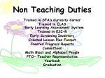 non teaching duties