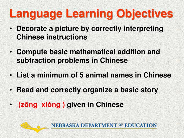 language learning objectives n.