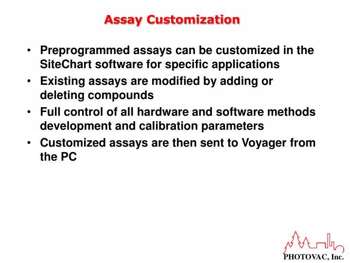 Assay Customization