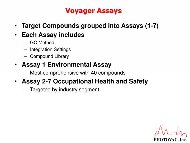 Voyager Assays