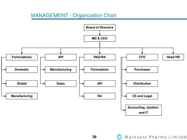 MANAGEMENT - Organization Chart