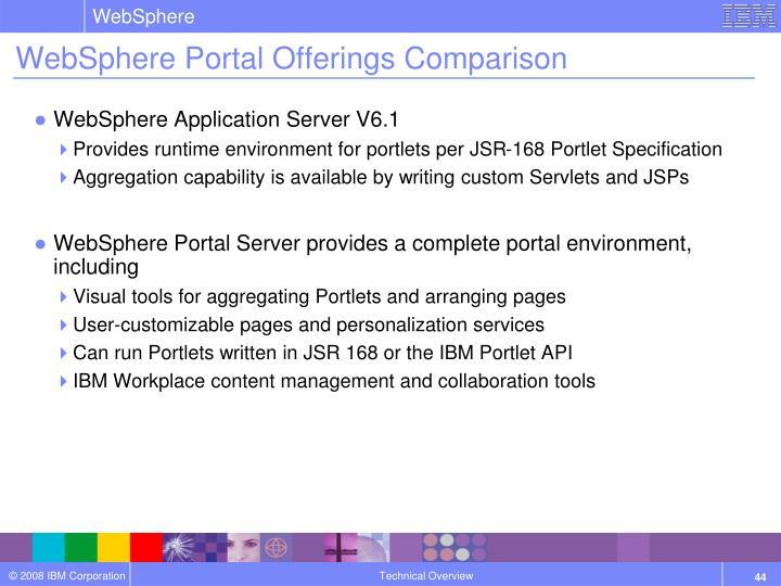 websphere portal offerings comparison
