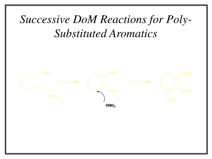 Successive DoM Reactions for Poly-Substituted Aromatics