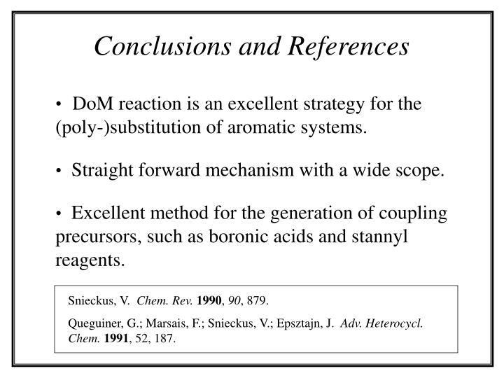 Conclusions and References