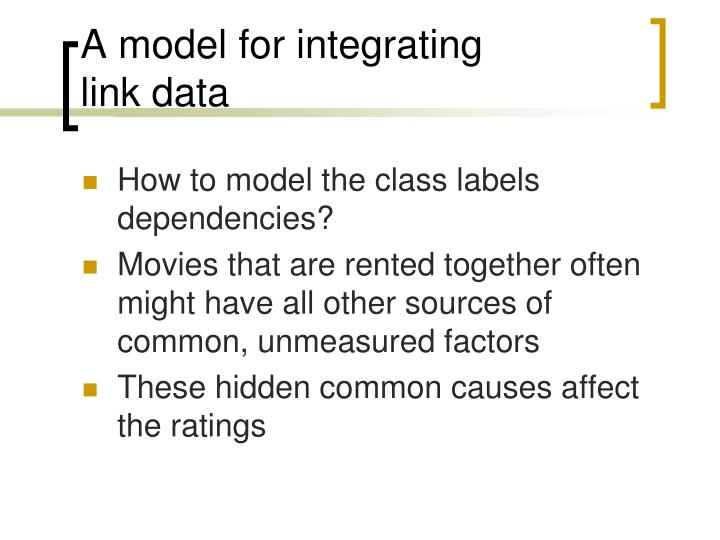 A model for integrating