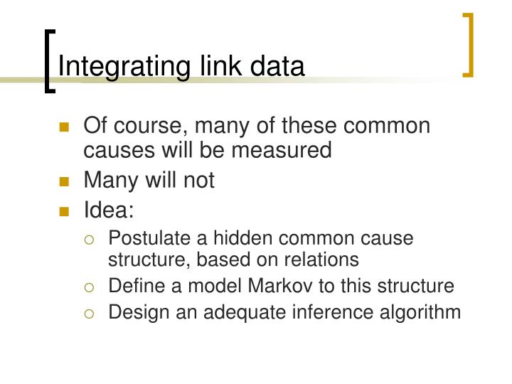 Integrating link data