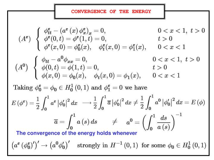 CONVERGENCE OF THE ENERGY