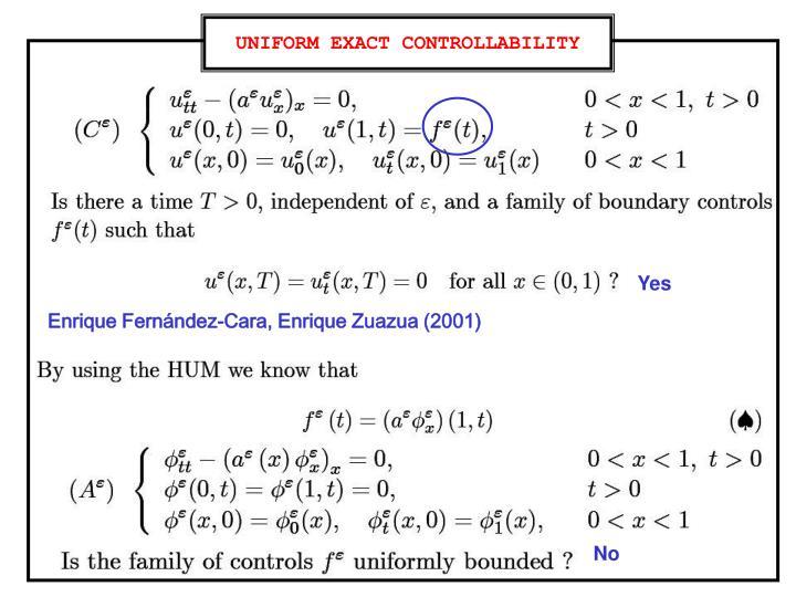 UNIFORM EXACT CONTROLLABILITY