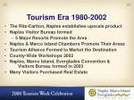 tourism era 1980 2002