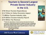 tourism is second largest private sector industry in the u s