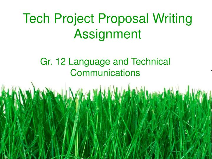 tech project proposal writing assignment n.