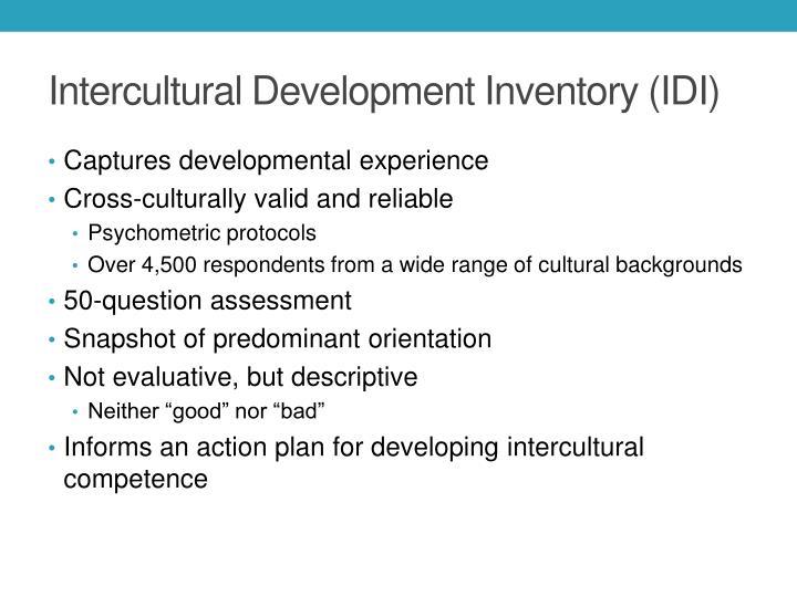 Intercultural Development Inventory (IDI)