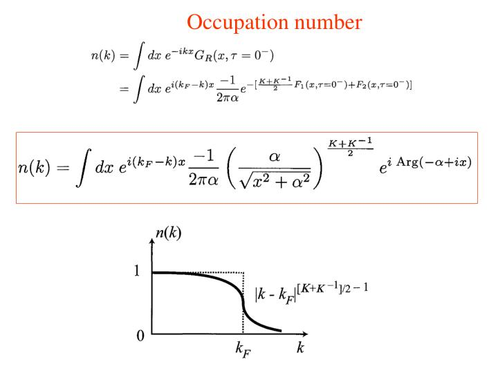 Occupation number