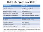 rules of engagement rq3